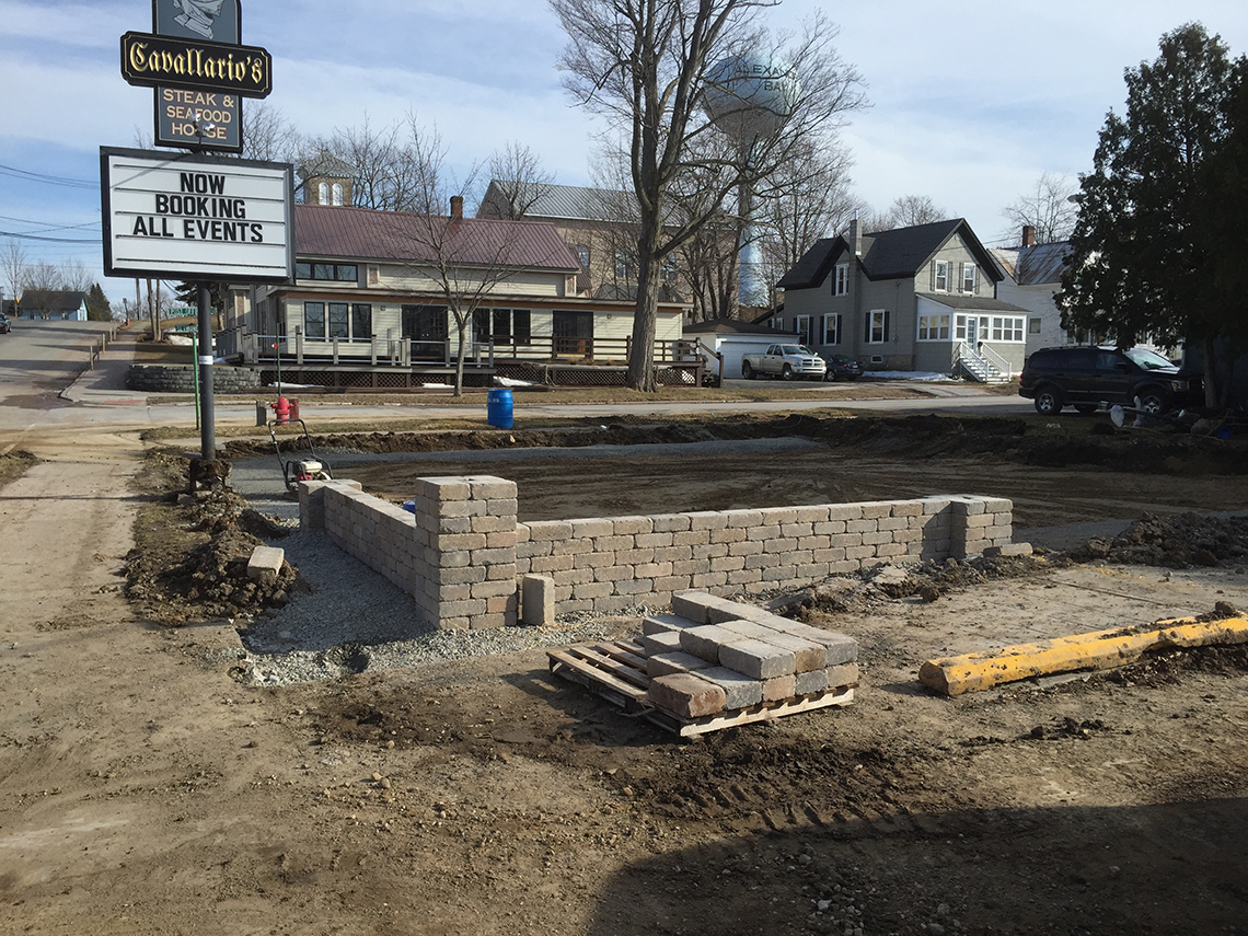 Brick Walls Go Up for Cavallario's New Patio