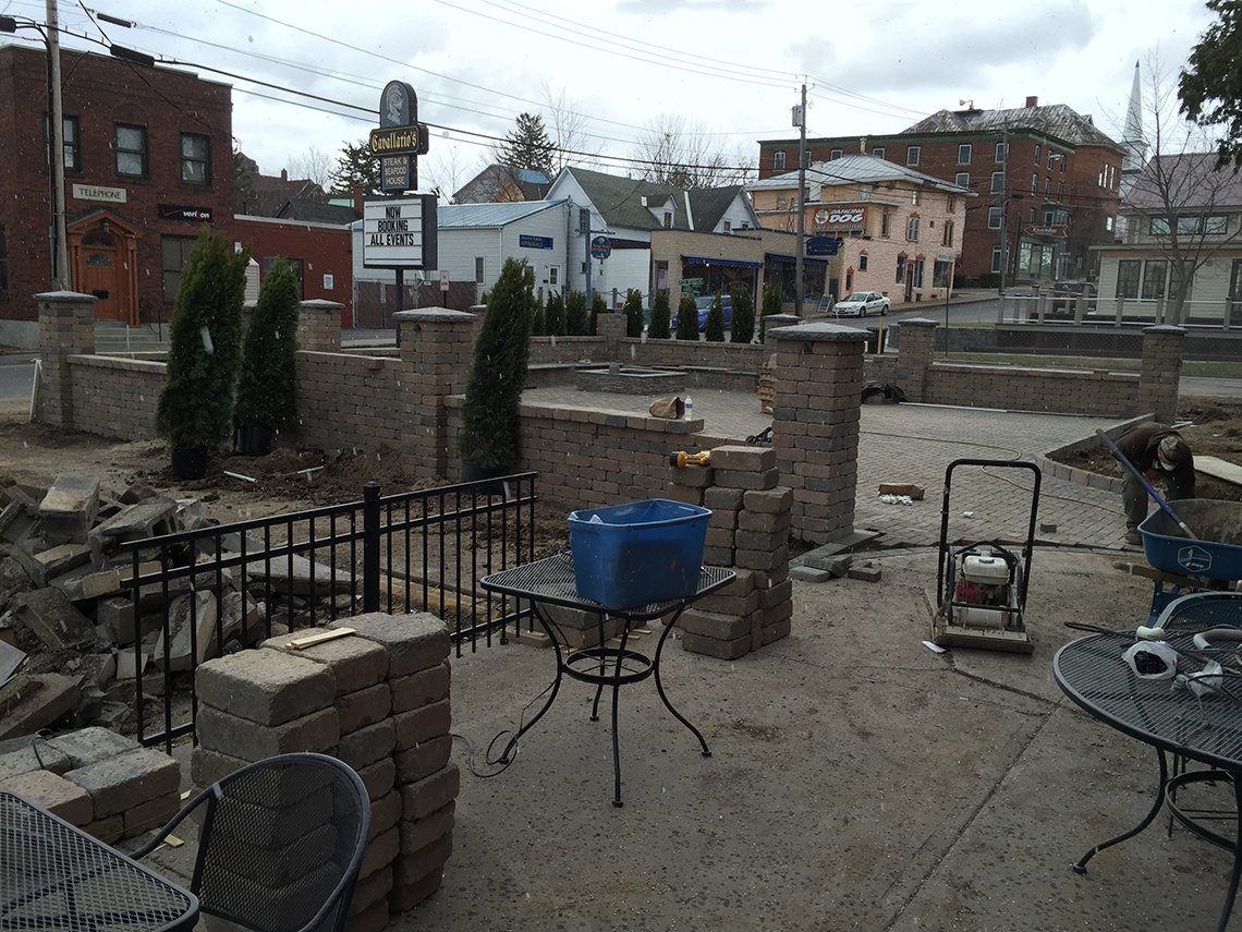 Pavers Finished at the New Cavallario's Patio