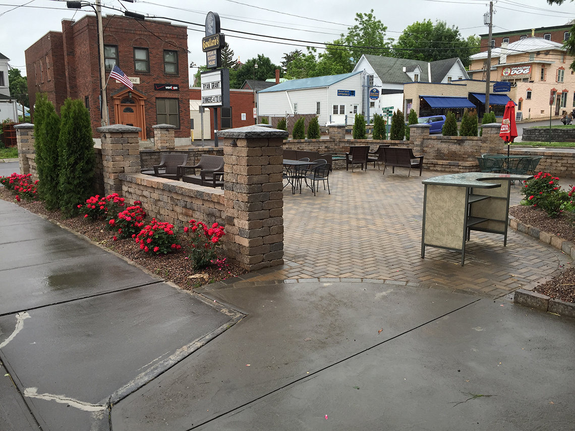 Open For Business at the Newly Landscaped and Paved Cavallario's Patio